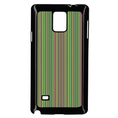 Green Lines Samsung Galaxy Note 4 Case (black)