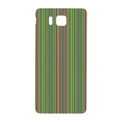 Green Lines Samsung Galaxy Alpha Hardshell Back Case by Valentinaart