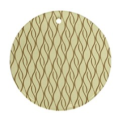 Elegant Pattern Round Ornament (two Sides)