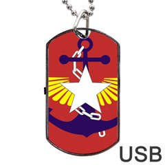 Flag Of The Myanmar Armed Forces Dog Tag Usb Flash (one Side) by abbeyz71