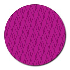 Magenta Pattern Round Mousepads by Valentinaart