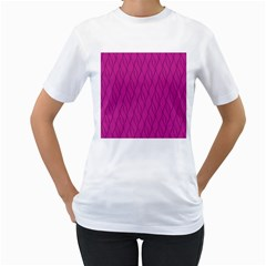 Magenta Pattern Women s T Shirt (white) (two Sided)