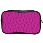 Magenta pattern Toiletries Bags 2-Side Front