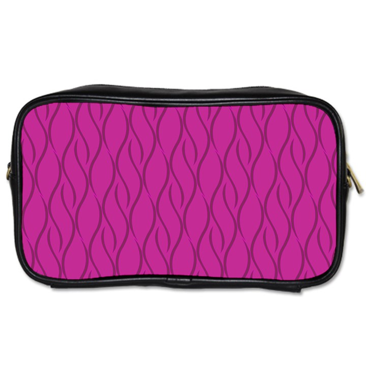 Magenta pattern Toiletries Bags 2-Side