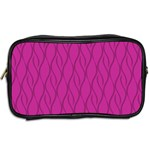 Magenta pattern Toiletries Bags 2-Side Back