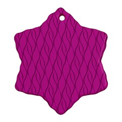 Magenta Pattern Snowflake Ornament (two Sides) by Valentinaart