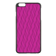 Magenta Pattern Apple Iphone 6 Plus/6s Plus Black Enamel Case by Valentinaart