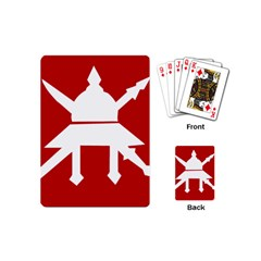 Flag Of The Myanmar Army Playing Cards (mini)  by abbeyz71