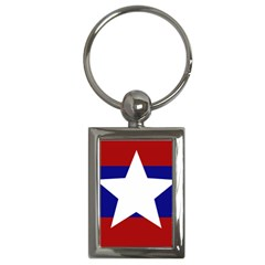 Flag Of The Bureau Of Special Operations Of Myanmar Army Key Chains (rectangle)  by abbeyz71