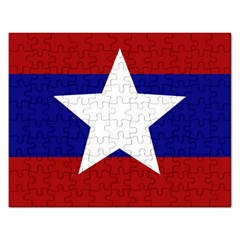 Flag Of The Bureau Of Special Operations Of Myanmar Army Rectangular Jigsaw Puzzl by abbeyz71