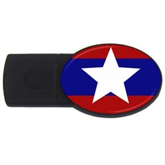 Flag Of The Bureau Of Special Operations Of Myanmar Army Usb Flash Drive Oval (4 Gb) by abbeyz71