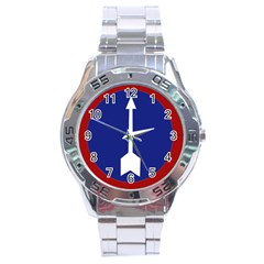 Flag Of Myanmar Army Northern Command  Stainless Steel Analogue Watch by abbeyz71