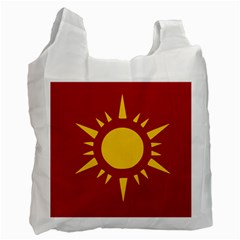 Flag Of Myanmar Army Northeastern Command Recycle Bag (two Side)  by abbeyz71