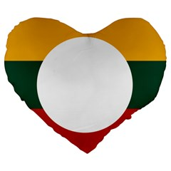 Flag Of Myanmar Shan State Large 19  Premium Heart Shape Cushions by abbeyz71