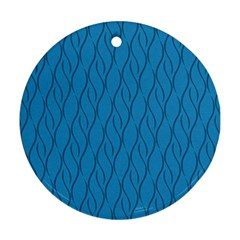 Blue Pattern Round Ornament (two Sides) by Valentinaart