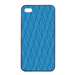 Blue Pattern Apple Iphone 4/4s Seamless Case (black) by Valentinaart