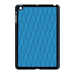 Blue Pattern Apple Ipad Mini Case (black) by Valentinaart