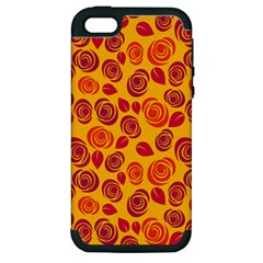 Orange Roses Apple Iphone 5 Hardshell Case (pc+silicone) by Valentinaart