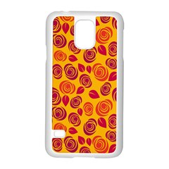 Orange Roses Samsung Galaxy S5 Case (white) by Valentinaart