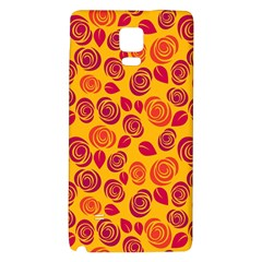 Orange Roses Galaxy Note 4 Back Case by Valentinaart