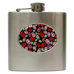 Red And Pink Roses Hip Flask (6 Oz) by Valentinaart