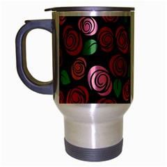 Red And Pink Roses Travel Mug (silver Gray) by Valentinaart