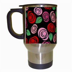 Red And Pink Roses Travel Mugs (white) by Valentinaart
