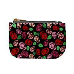 Red And Pink Roses Mini Coin Purses