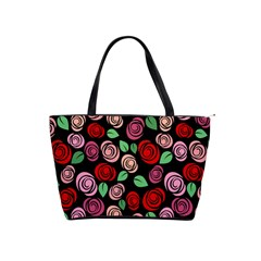 Red And Pink Roses Shoulder Handbags by Valentinaart