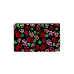 Red And Pink Roses Cosmetic Bag (small)  by Valentinaart