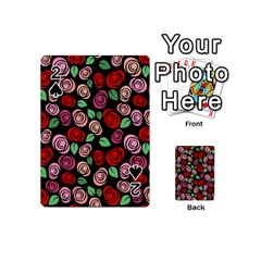 Red And Pink Roses Playing Cards 54 (mini)  by Valentinaart