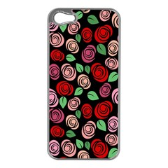 Red And Pink Roses Apple Iphone 5 Case (silver) by Valentinaart