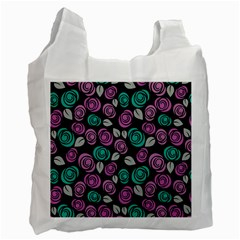Roses Pattern Recycle Bag (one Side) by Valentinaart