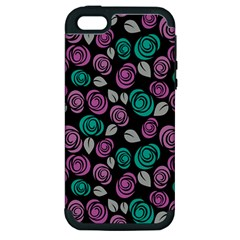 Roses Pattern Apple Iphone 5 Hardshell Case (pc+silicone)