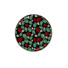 Decorative Floral Pattern Hat Clip Ball Marker (10 Pack) by Valentinaart