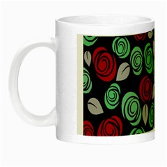 Decorative Floral Pattern Night Luminous Mugs by Valentinaart