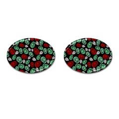 Decorative Floral Pattern Cufflinks (oval) by Valentinaart