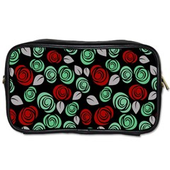 Decorative Floral Pattern Toiletries Bags by Valentinaart