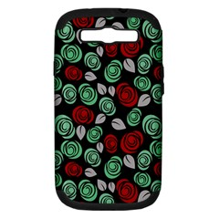 Decorative Floral Pattern Samsung Galaxy S Iii Hardshell Case (pc+silicone) by Valentinaart
