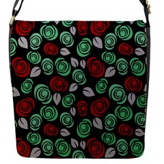 Decorative Floral Pattern Flap Messenger Bag (s) by Valentinaart