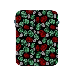 Decorative Floral Pattern Apple Ipad 2/3/4 Protective Soft Cases by Valentinaart