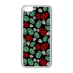 Decorative Floral Pattern Apple Iphone 5c Seamless Case (white) by Valentinaart