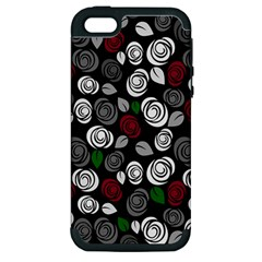 Elegant Roses Design Apple Iphone 5 Hardshell Case (pc+silicone)