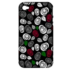 Elegant Roses Design Apple Iphone 4/4s Hardshell Case (pc+silicone) by Valentinaart