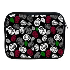 Elegant Roses Design Apple Ipad 2/3/4 Zipper Cases by Valentinaart
