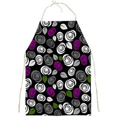 Purple Roses Pattern Full Print Aprons