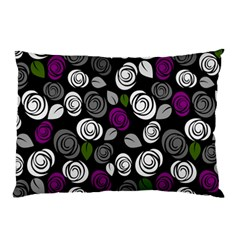 Purple Roses Pattern Pillow Case (two Sides) by Valentinaart