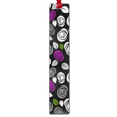 Purple Roses Pattern Large Book Marks by Valentinaart