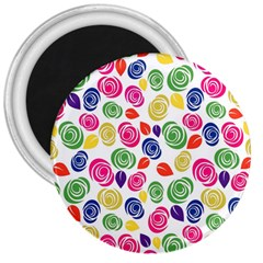 Colorful Roses 3  Magnets by Valentinaart