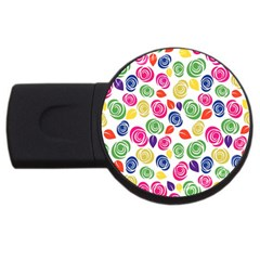 Colorful Roses Usb Flash Drive Round (4 Gb) by Valentinaart